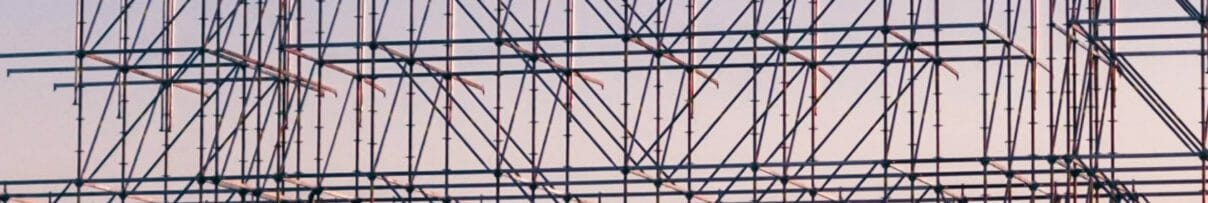 Scaffolding at dusk